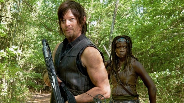 The Walking Dead Daryl Michonne Norman Reedus Danai Gurira