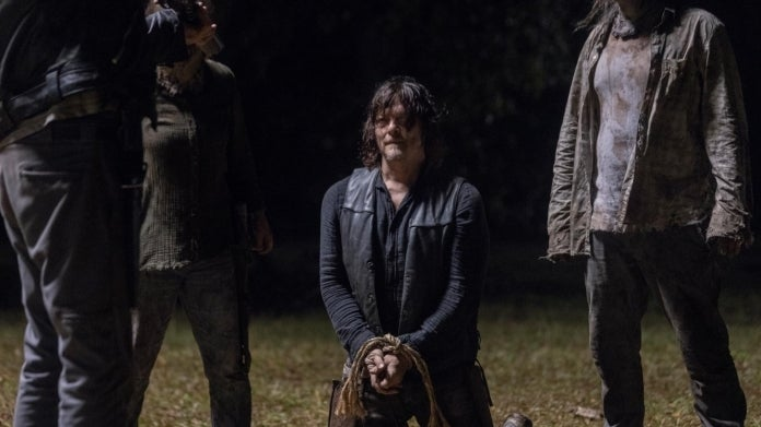 The Walking Dead Daryl Negan Look at the Flowers