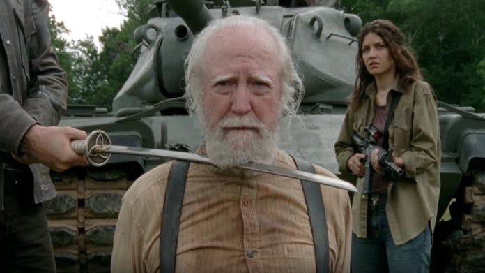 The Walking Dead Hershel death