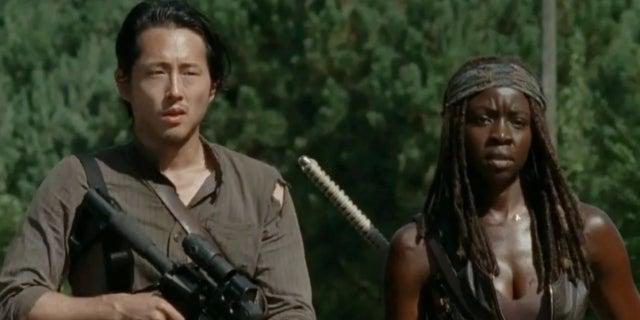 The Walking Dead Michonne Glenn