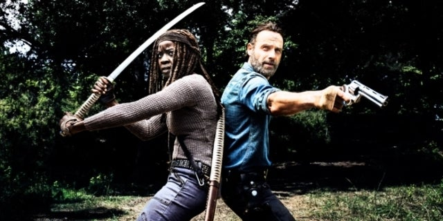 The Walking Dead Rick Grimes and Michonne