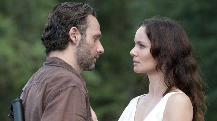 The Walking Dead Rick Grimes Lori Grimes Sarah Wayne Callies