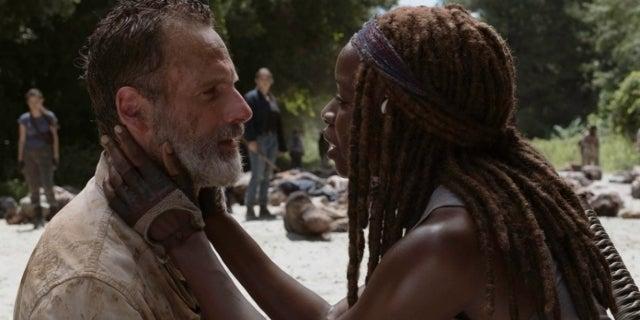 The Walking Dead Rick Grimes Michonne Andrew Lincoln Danai Gurira