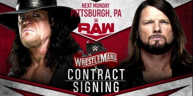 Undertaker-AJ-Styles-WWE-Raw-contract-signing