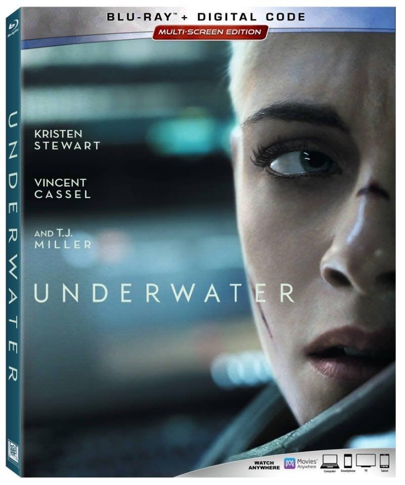 underwater movie blu ray release cover kristen stewart