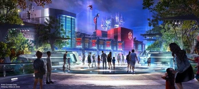 WEB Exterior Night Avengers Campus