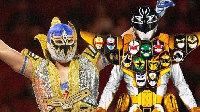 WWE Elimination Chamber Power Rangers