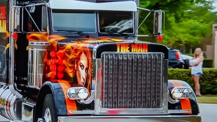 WWE Monday Night Raw Becky Lynch Truck