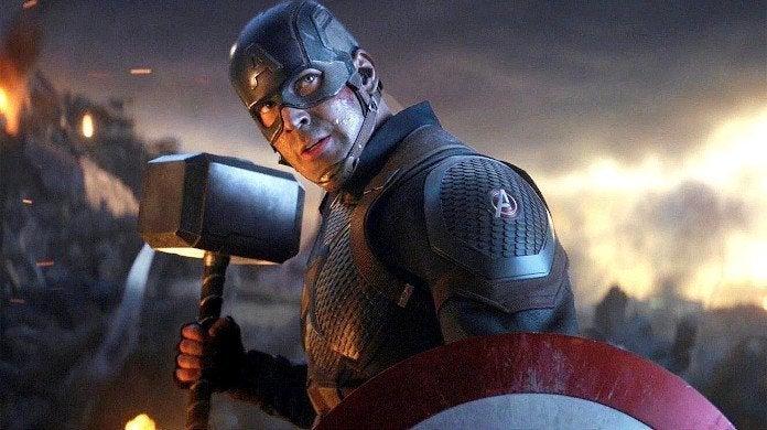 Avengers Endgame Captain America Thor Hammer