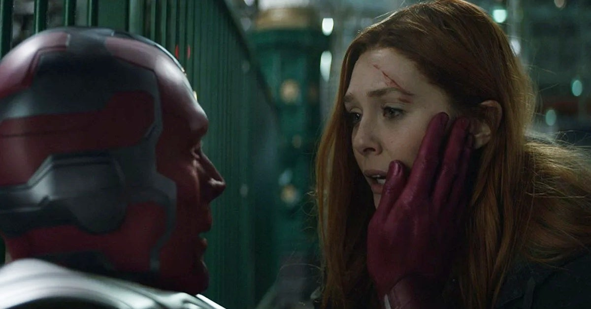 avengers infinity war scarlet witch vision
