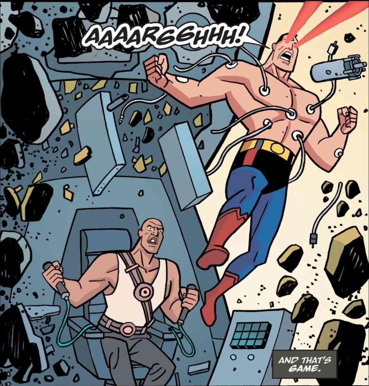 Batman the Animated Series Batman v Superman Lex Luthor Scene