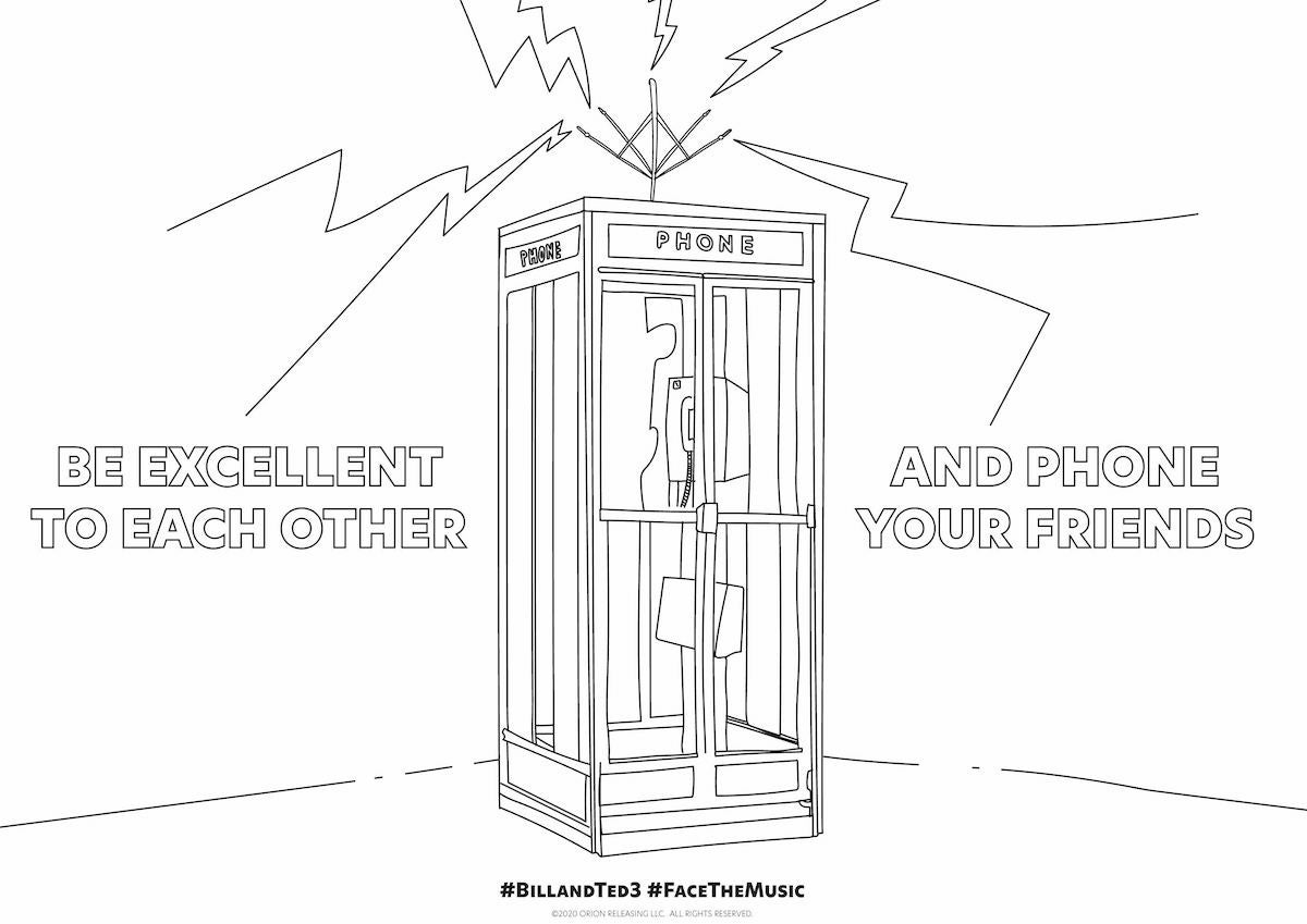 Bill & Ted Coloring Page 1