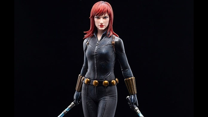 black widow kotobukiya statue