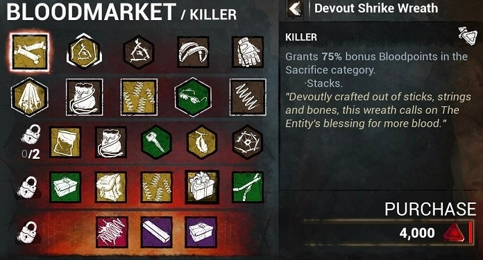 Dead by Daylight Mobile Bloodmarket