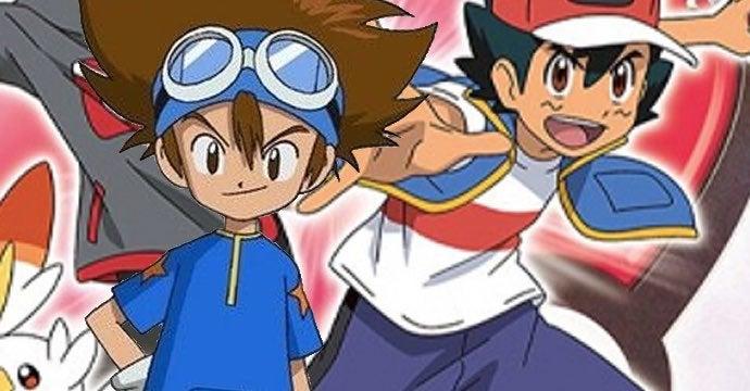 digimon pokemon anime