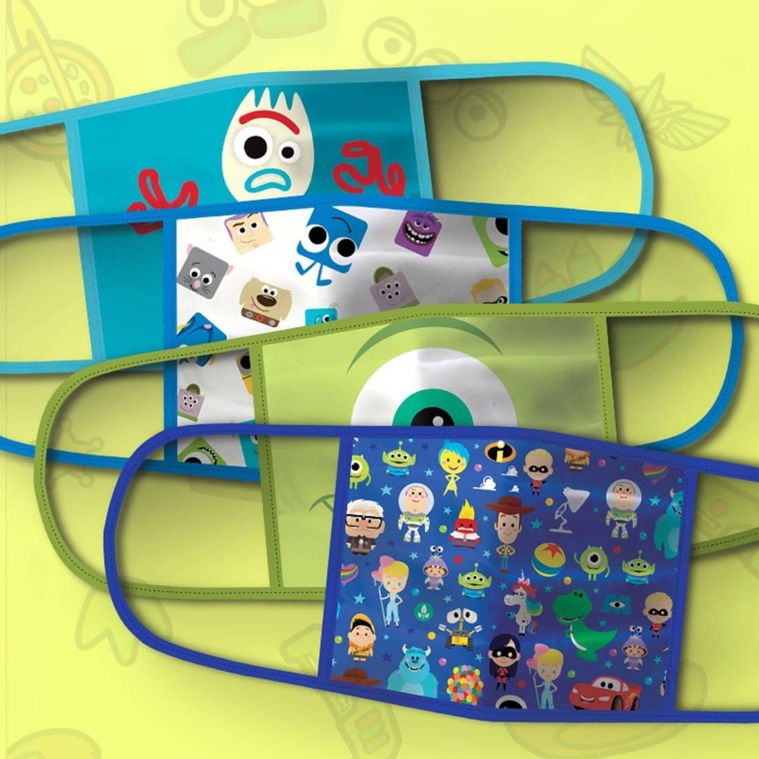 disney facemasks pixar