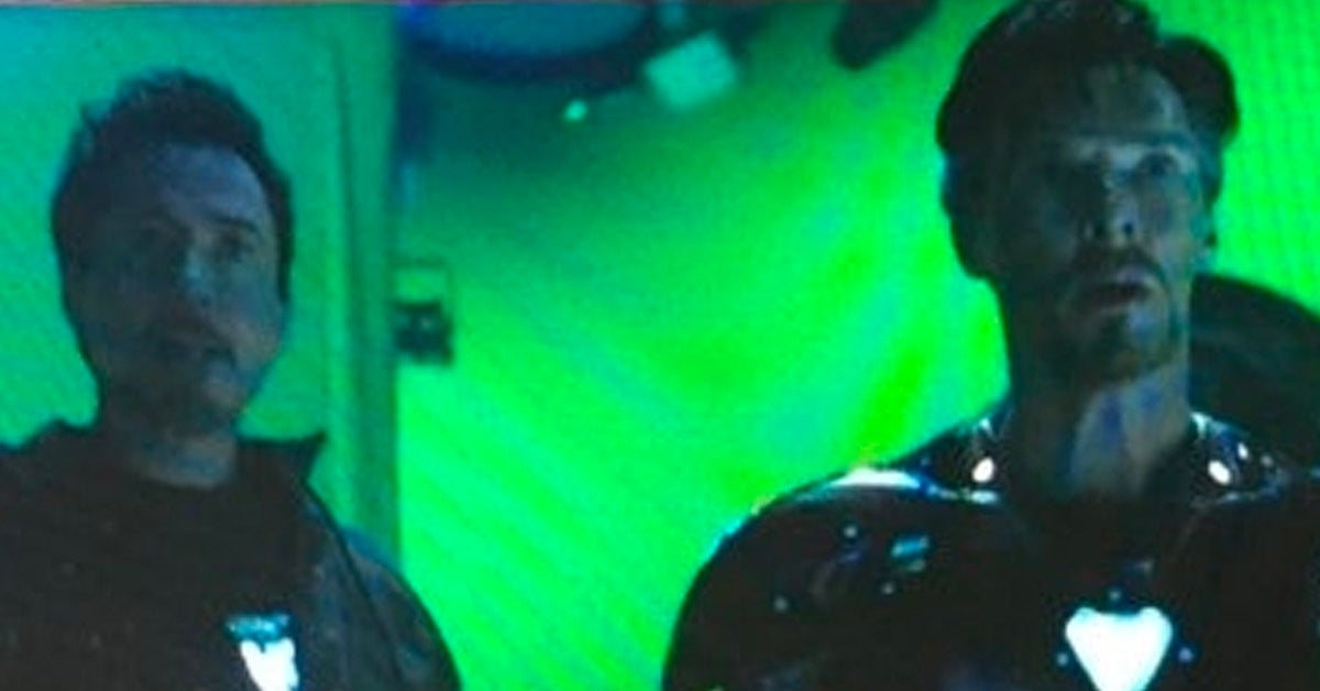 doctor strange iron man armor avengers infinity war