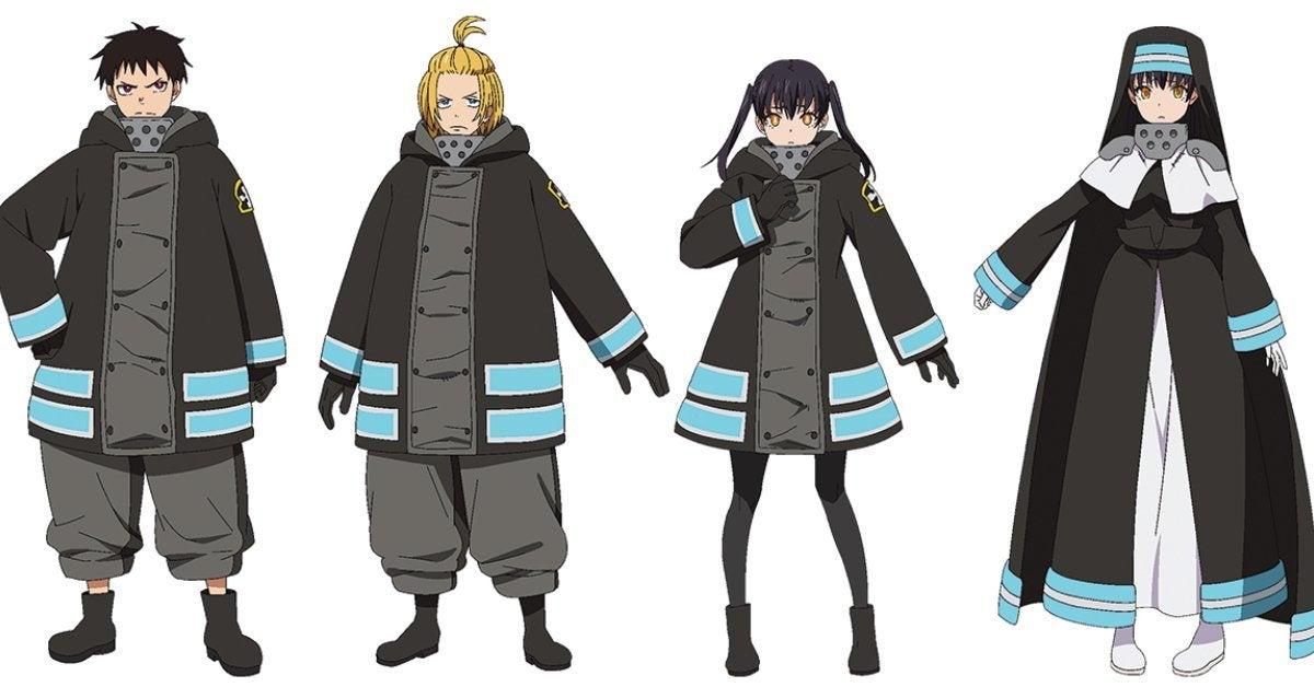Fire Force Season 2 Character Designs Anime