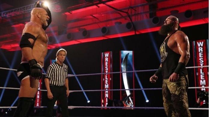 Goldberg-Braun-Strowman-WrestleMania