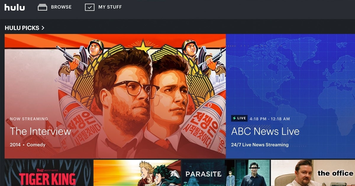 hulu the interview top picks