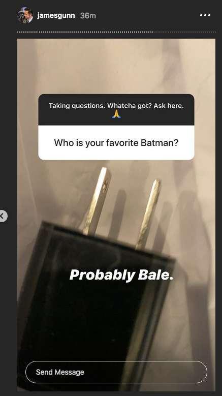 james gunn instagram favorite batman