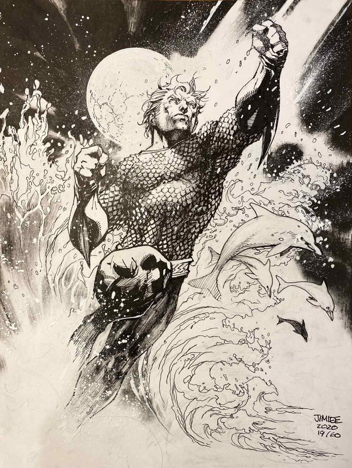 jim lee aquaman sketch