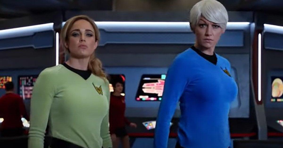 legends of tomorrow star trek spoof trailer