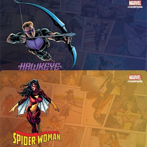 Marvel-Champions-Rise-of-Red-Skull-Hawkeye-Spider-Woman-Game-Mats