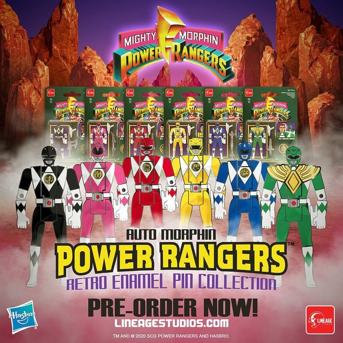 Mighty-Morphin-Power-Rangers-Retro-Pin-Collection-Group