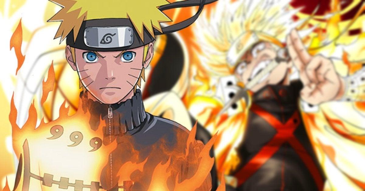 Naruto My Hero Academia Bakugo Fusion Art