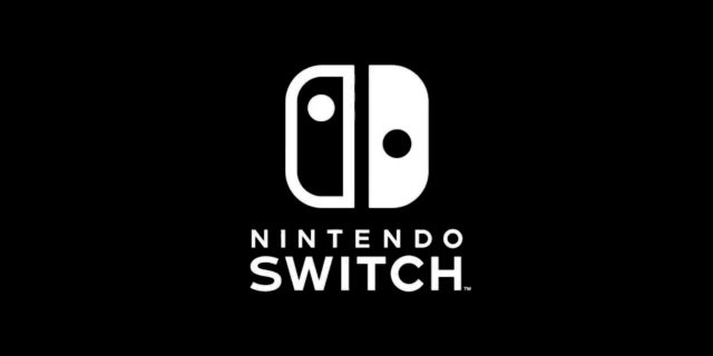 nintendo switch logo black white