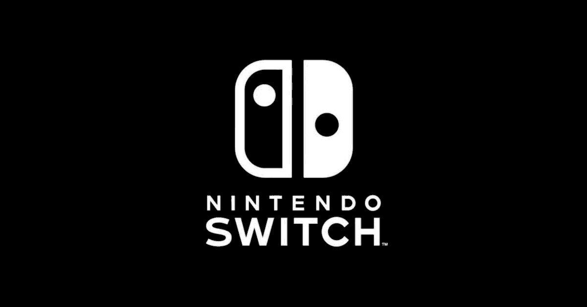nintendo switch logo black white