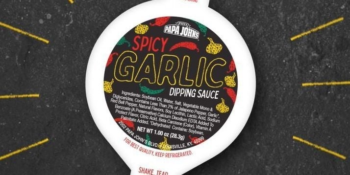 papa johns spicy garlic