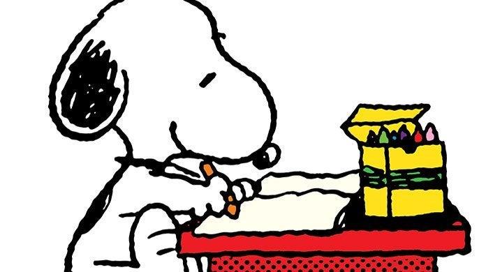 peanuts snoopy home school