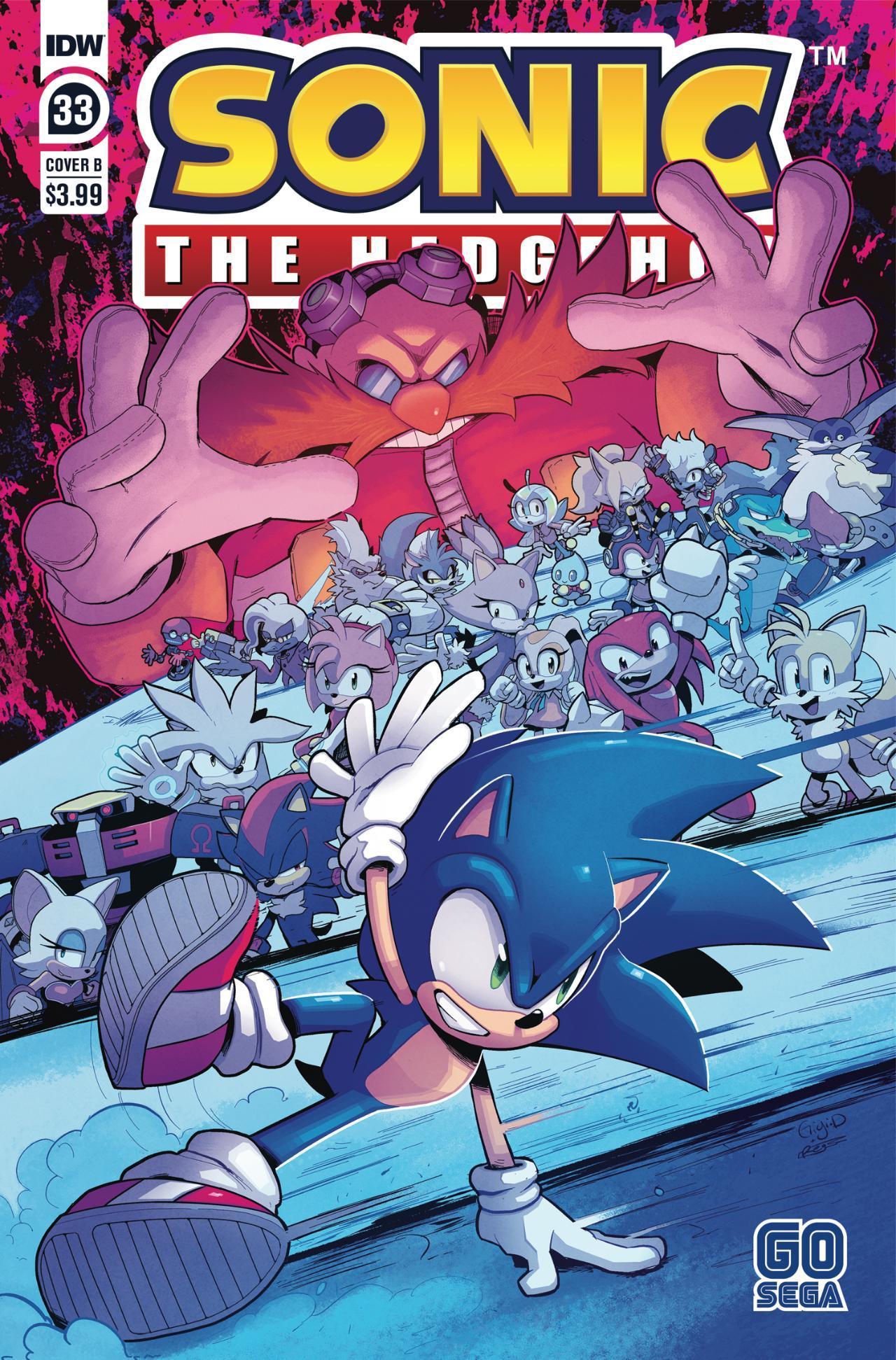 Sonic The Hedgehog #33 - Cover B by Gigi Dutreix & Reggie Graham
