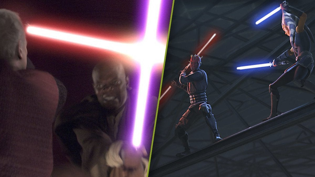 Star Wars Revenge of the Sith Clone Wars Duels Palpatine Mace Windu Maul Ahsoka