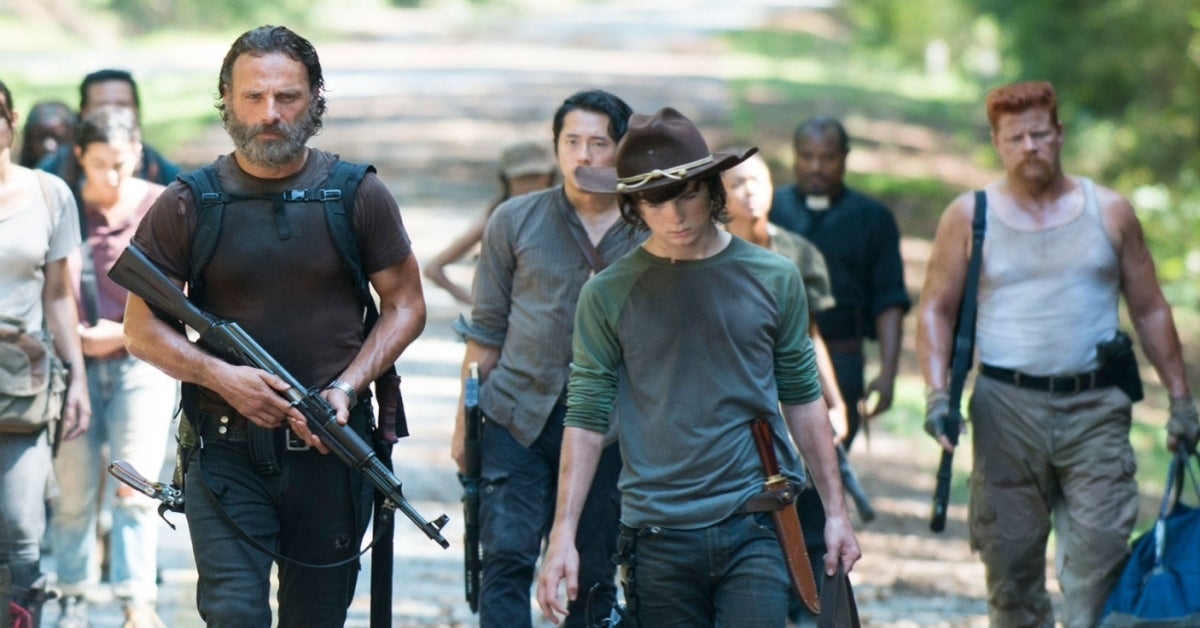 The Walking Dead Glenn Carl Steven Yeun Chandler Riggs