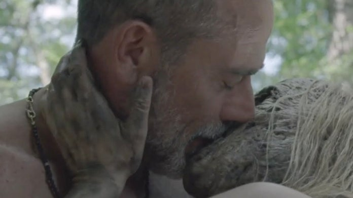 The Walking Dead Negan Alpha sex scene Jeffrey Dean Morgan Samantha Morton