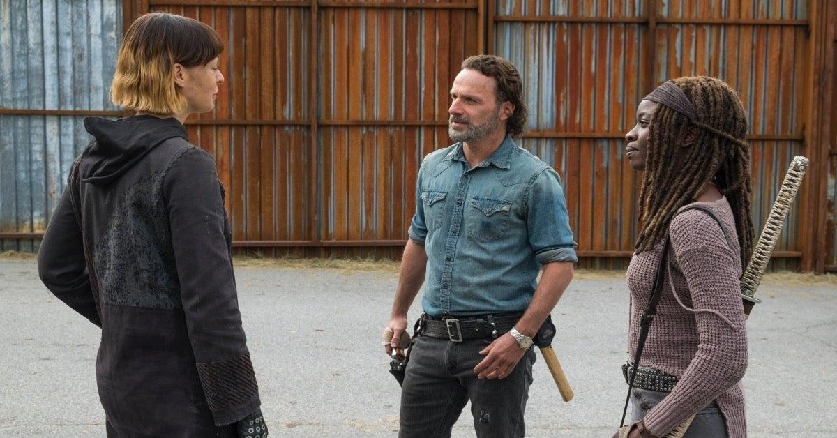 The Walking Dead Rick Grimes Michonne Jadis Anne Pollyanna McIntosh