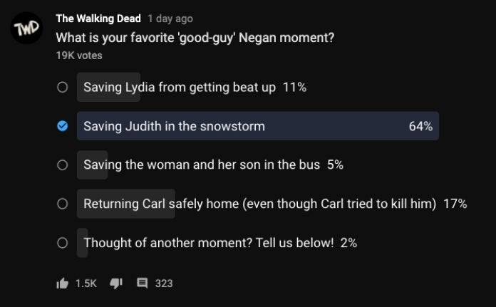 TWD Negan poll