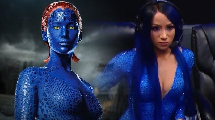 WWE-Sasha-Banks-Mystique-Smurfs-Samus-Avatar-Costumes-Compare