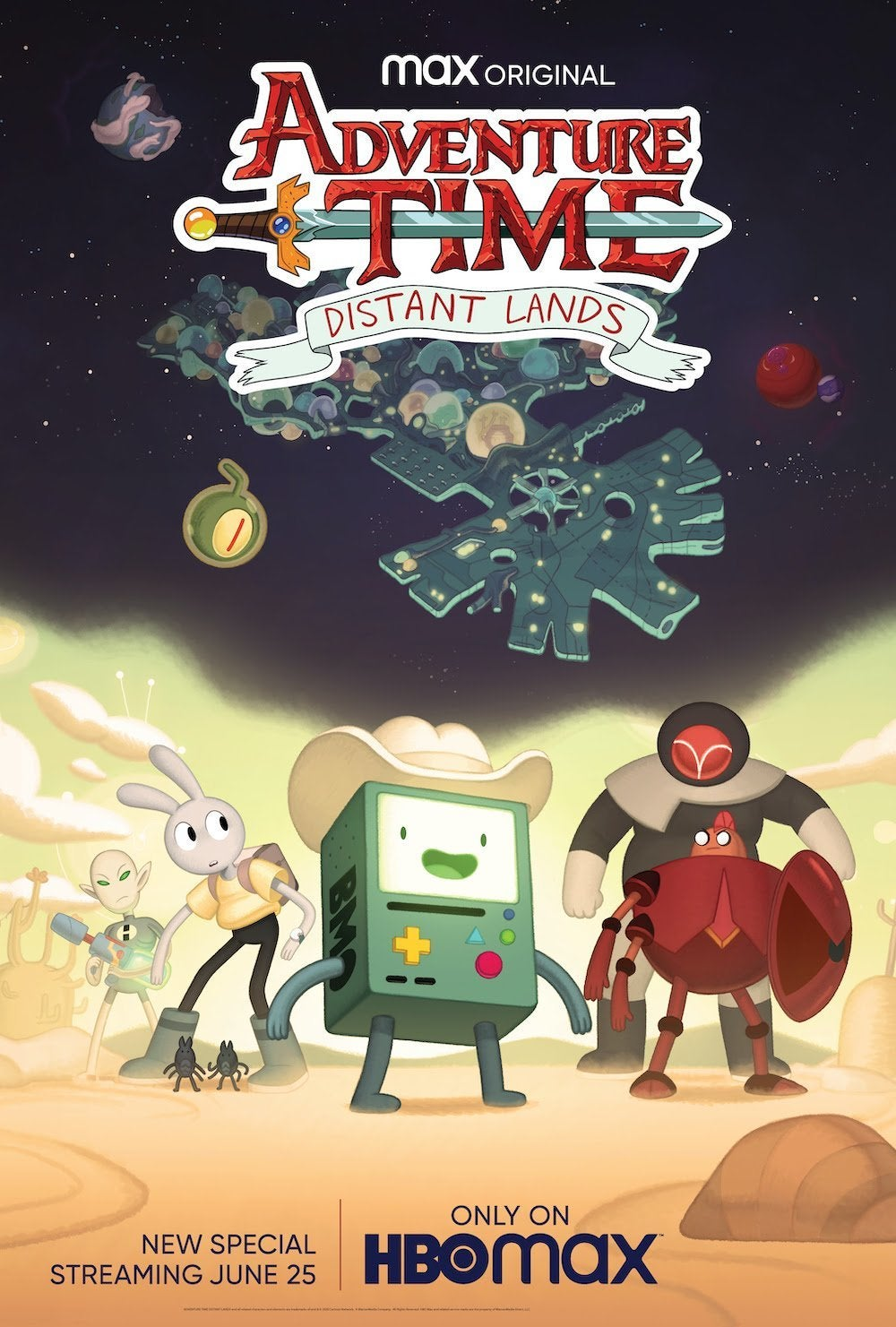 adventure time distant lands bmo special poster
