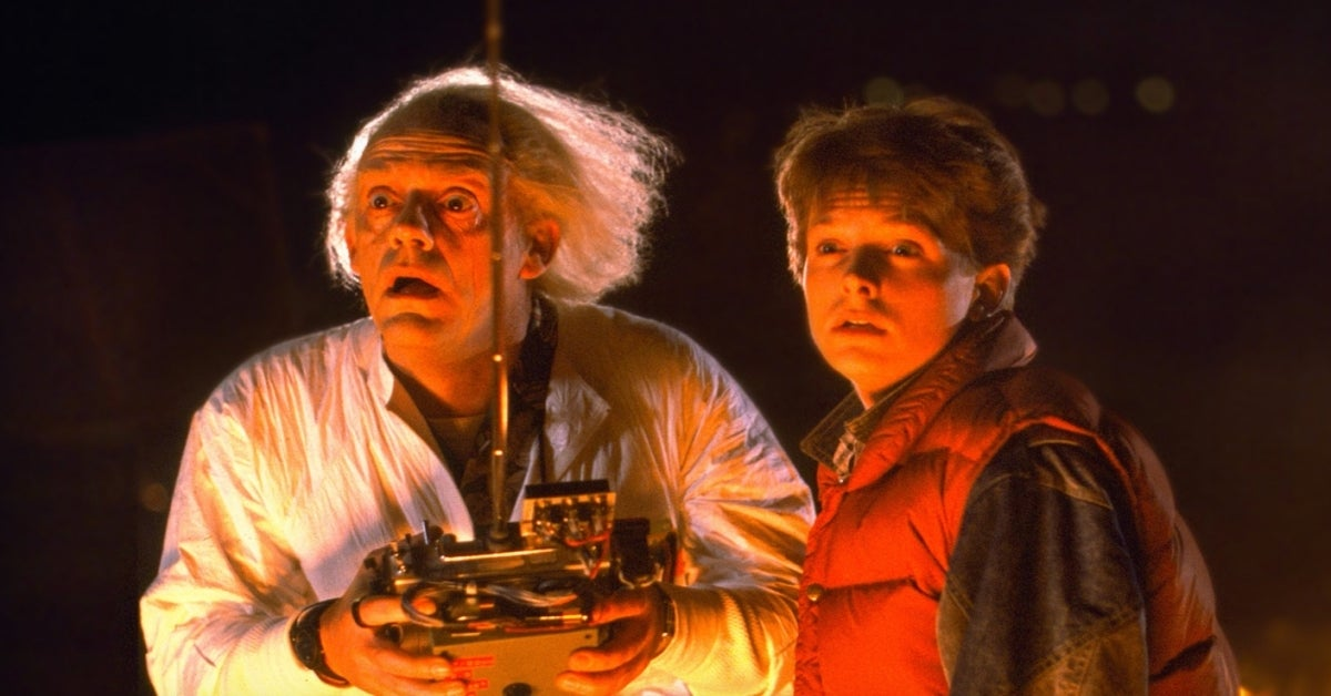 Back to the Future Michael J Fox Christopher Lloyd