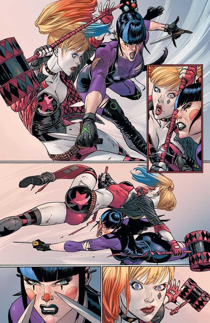 Batman-93-Punchline-Harley-Quinn-Fight-4