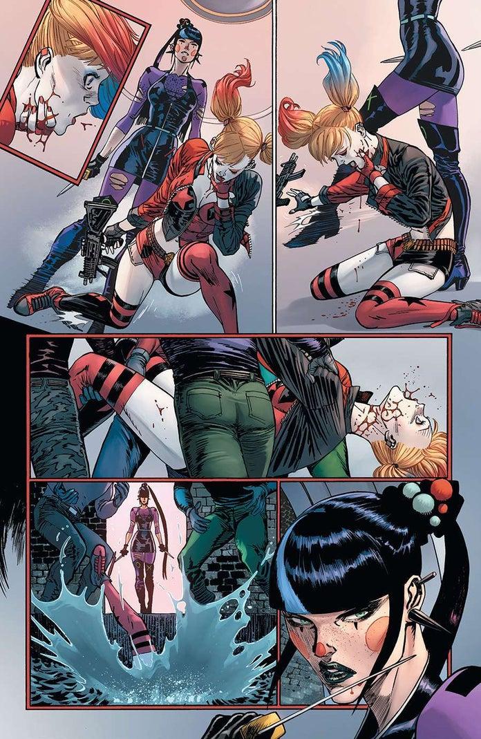 Batman-93-Punchline-Harley-Quinn-Fight-5