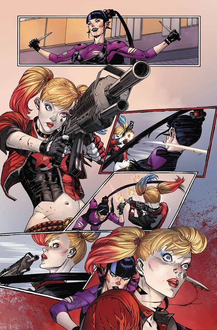 Batman-93-Punchline-Harley-Quinn-Fight-7