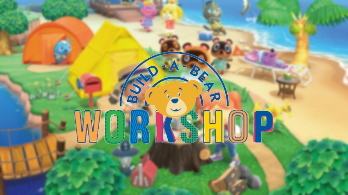 build a bear animal crossing new cropped hed