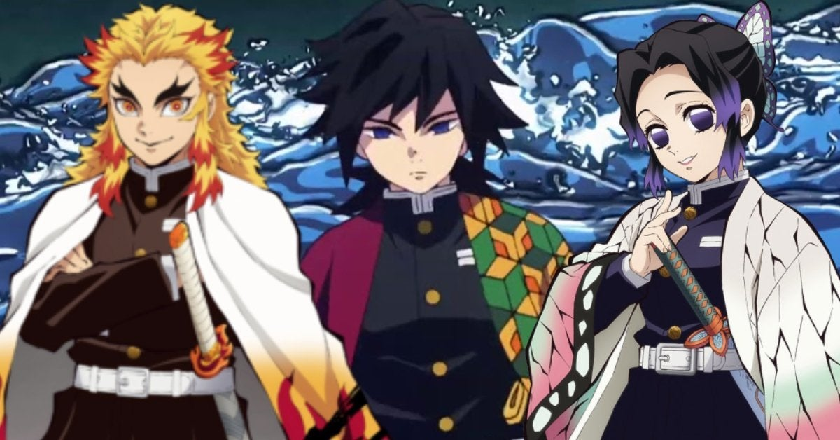 Demon Slayer Kimetsu no Yaiba Hashira Rengoku Shinobu Giyu Anime