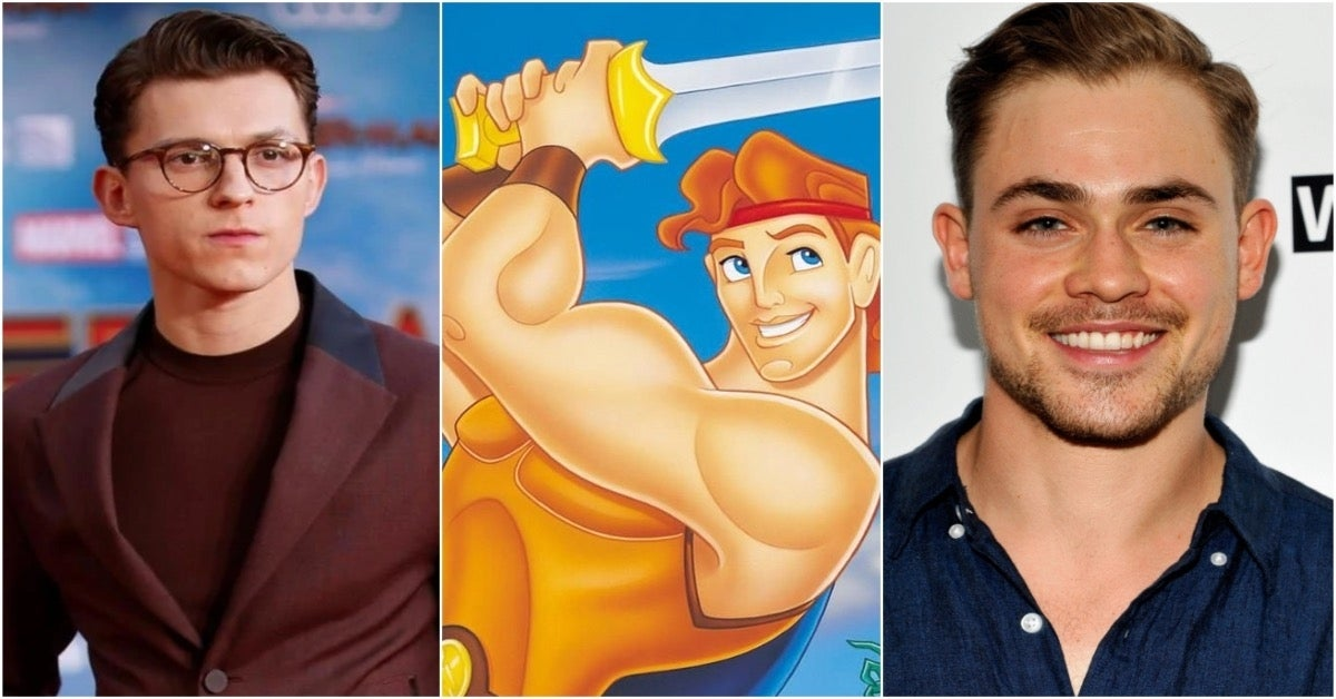Disney Hercules Tom Holland Dacre Montgomery comicbookcom