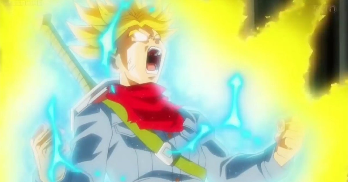Dragon Ball Super Future Trunks Super Saiyan Rage
